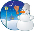 Seasonal icon - winter Stock Images