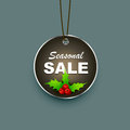 Seasonal sale label christmas design Stock Photography