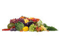 Seasonal selection of fruits and vegetables Stock Photo