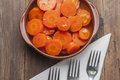 Seasoned carrots series cadiz andalusia style Royalty Free Stock Images