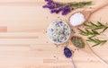 Seasoned salt with herbs Royalty Free Stock Photo