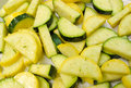 Seasoned squash zucchini and yellow Stock Photos