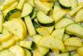 Seasoned squash zucchini and yellow Stock Photos