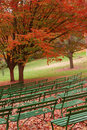 Seasongood Pavilion Benches Royalty Free Stock Image