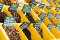 Seasonings at spanish market and tea Stock Images