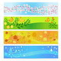 Seasons banners Royalty Free Stock Photo