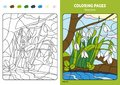 Seasons coloring page for kids, July month.