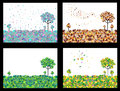 4 Seasons Geometric  Backgroun...
