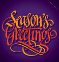 SEASONS GREETINGS Hand Letteri...