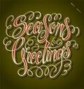 SEASONS GREETINGS Hand Letteri...