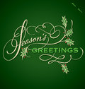 SEASONS GREETINGS hand lettering (vector) Stock Images