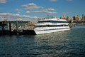 Seastreak ferry new york city on the east river at pier manhattan Stock Images