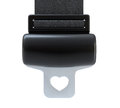 Seat belt with heart shape Stock Photos