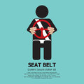 Seat belt sign vector illustration Stock Image