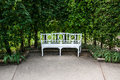 Seat bench in a garden for relaxing Royalty Free Stock Image