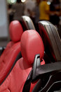 Seat detail of sports-car Stock Images