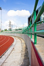 Seat empty stadium running track Stock Images