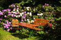 Seat in a garden Royalty Free Stock Photography