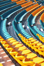 Seat lines at modern stadium Stock Image