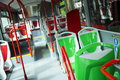 Seat places in modern city bus urban transport Royalty Free Stock Photography