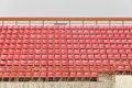 Seat red in the stadium Royalty Free Stock Image