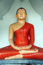 Seated buddha in dhowa temple near bandarawela sri lanka Royalty Free Stock Photography