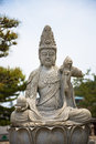 Seated Buddha statue at temple in Tokyo Royalty Free Stock Photo