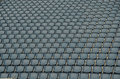Seated in a stadion many Stock Photography