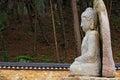 Seated Stone Buddha Statue at Mireuggok of Namsan, Gyeongju Royalty Free Stock Photo