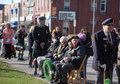 Seated Veterans, Acton Remembrance Day Royalty Free Stock Photo