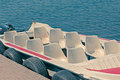 Seater speed boat motor ferry Stock Photo