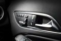 Seating controls in a expensive car Royalty Free Stock Photo