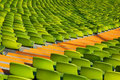 Seating olympic stadium diagonal Royalty Free Stock Photography