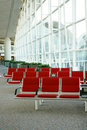 Seats in airport Royalty Free Stock Photography