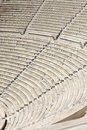 Seats of ancient Odeon of Herodes Atticus Stock Images