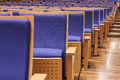 Seats in auditorium hall perspective row interior Royalty Free Stock Photography