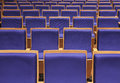 Seats in auditorium theatre front side Royalty Free Stock Photo