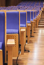 Seats in auditorium and walkway conference hall Royalty Free Stock Image