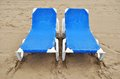 Seats in the beach Stock Image