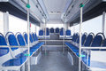 Seats of bus as public transportation Royalty Free Stock Photo