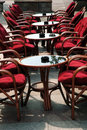 Seats in caffe Stock Image