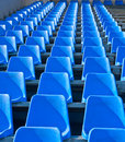 Seats are empty on the stadium Stock Photos