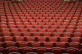 Seats in empty theatre Royalty Free Stock Photo