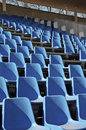 Seats are empty on the tribune of stadium Royalty Free Stock Photo