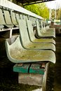 Seats in old football stadium Stock Photography