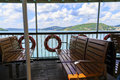 Seats onboard ferry transportation in sea Royalty Free Stock Photography