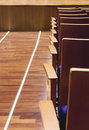 Seats row in auditorium from back side interior Stock Image