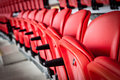 Seats seating inside a sports stadium Royalty Free Stock Image