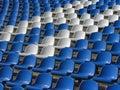 Seats in the stadium Royalty Free Stock Photos