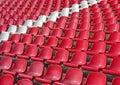 Seats in the stadium Stock Photo